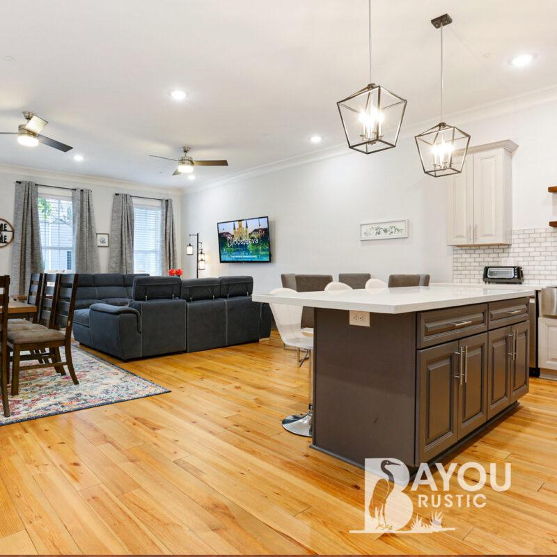 5″ Caribbean Pine 1′-7′ Prefinished Flooring Fawn