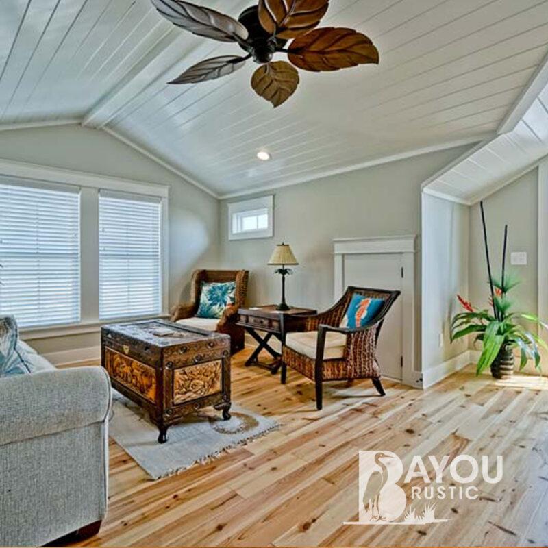5″ Caribbean Pine 1′-7′ Prefinished Flooring Natural