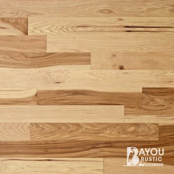 4″ Hickory 2′-10′ Unfinished Flooring (Character)