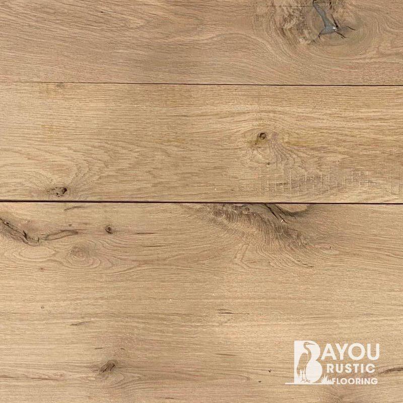 8″ White Oak Unfinished Engineered Flooring (Live sawn)