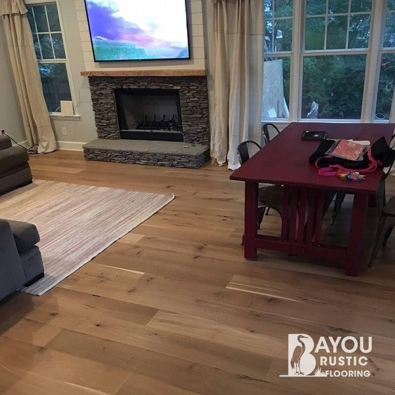 8″ White Oak Unfinished Engineered Flooring (European)