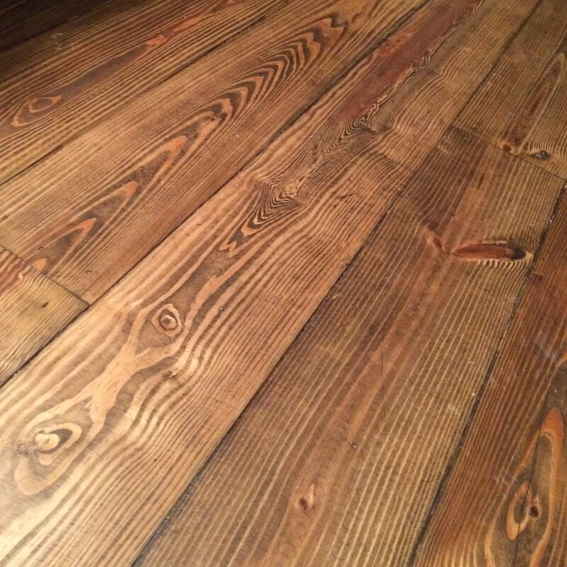 5″ Character Heart Pine Prefinished Flooring – Bourbon Barrell