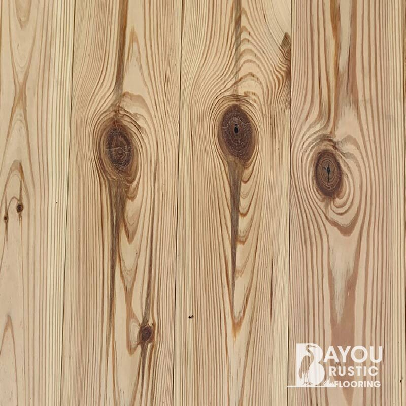 5″ Character Heart Pine Prefinished Flooring – Clear